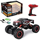 Rock Crawler 1:14 Scale 4WD 2.4 Ghz 4x4 Rally Racing Car Remote Control Mini Rocking Car RED OfferZone