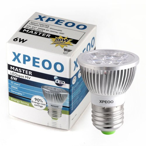 Xpeoo® Dimmable E26 E27 Led Bulb Lamp Light Spot Recessed Lighting Energy Saving Smd Cool Or Warm White Standard Base Socket 110V 120V 6W Replace 50W Halogen (Warm White)