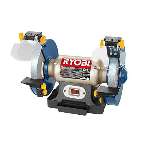 Ryobi 8 In Bench Grinder With Led Light Review Grinder Reviews