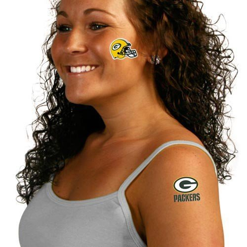NFL Green Bay Packers Tattoo Set (8 Piece)