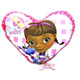 Character World Disney Doc Mcstuffins Patch Shaped Printed Plush Cushion, Multi-Color