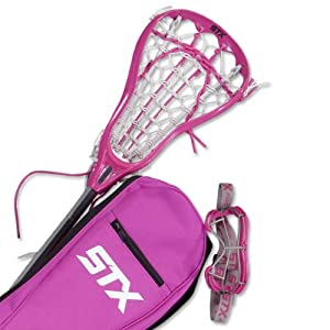 STX Lacrosse Girl's Youth Lacrosse Starter Kit (Pink)
