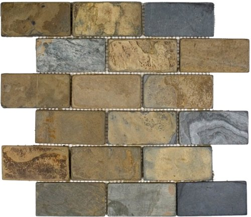 Epoch Tile CR2X4 2x4 California Rustic Tumbled Slate