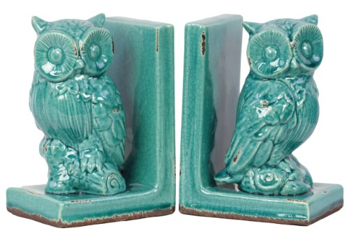 Urban Trends 11148 Decorative Stoneware Owl Bookend