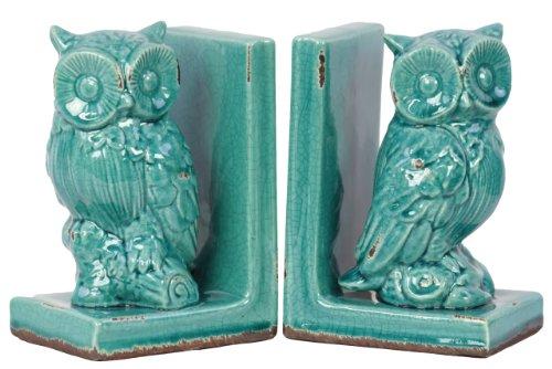 Urban Trends 11148 Decorative Stoneware Owl Bookend