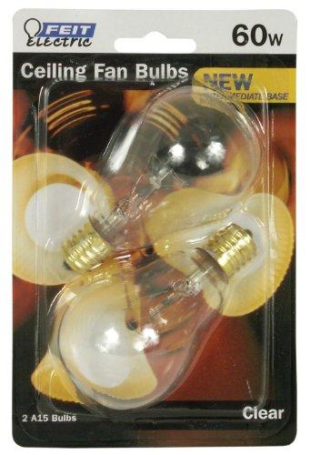 Feit Electric Bp60A15N/Cl/Cf 60-Watt Incandescent A15 Bulb