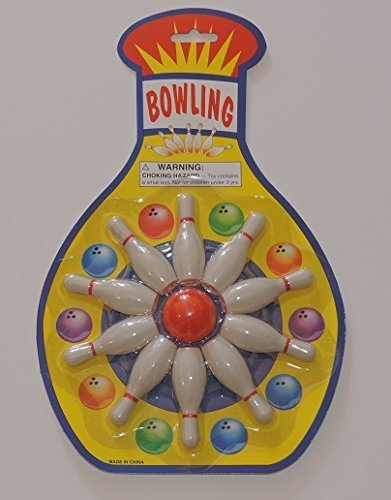 Mini Table Top Bowling Game - Fun Anywhere! Makes a Great Stocking Stuffer! - 1