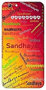 Sandhaya (Popular Girl Name) Name & Sign Printed All over customize & Personalized!! Protective back cover for your Smart Phone : Samsung Galaxy S6 Edge