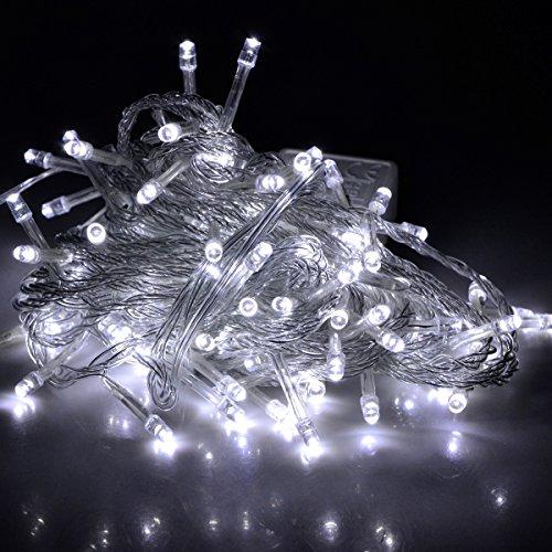 Nexscene 8 Modes 10M 100 Led String Fairy Light For Wedding Christmas Party Holiday(White)