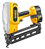 DeWalt DC618KA 18V Cordless Angled Finishing Nailer with 2 Batteries and Charger