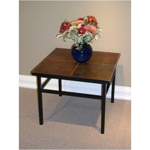 Slate - top End Table