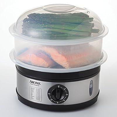 Aroma 5-Quart Food Steamer, Stainless Steel