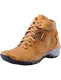Black Macy Men's Tan Synthetic Leather Casual Boot