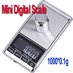 Constructan(TM) Digital LCD Pocket Weighting Jewelry Scale 1000g x 0.1g