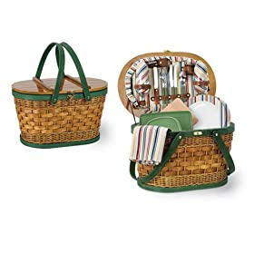 Picnic Time Catalina Riviera Oval Shaped Willow & Bamboo Basket w/ Deluxe Service For 2 $22.87  Reg. $136 - Amazon 51txrgh3cRL._SL500_AA280_