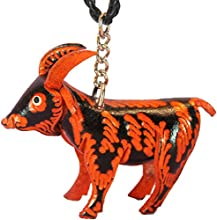 Leather Car Accessories - Billy Goat - Hanging Mirror Charm Jewelry