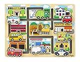 Melissa & Doug Deluxe Wooden Vehicles Maze Puzzle