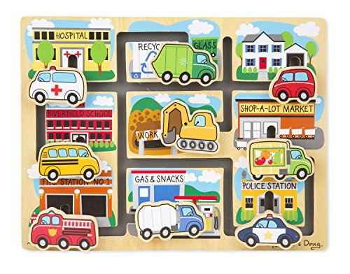 Melissa & Doug Deluxe Wooden Vehicles Maze Puzzle - 1