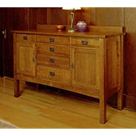 Mission Style Sideboard Storage Dining Room