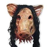 HITOP Halloween Zubehör Maskerade Masken Latexmaske Horrormaske Geistermaske Comic Rollenspiel Convention begeisterte Cosplay Karneval (Schweinekopf)