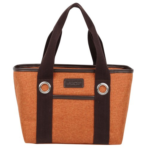 Sachi Fun Print Insulated Lunch Tote, Style 11-232, Orange