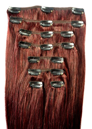 FULL HEAD of 100% Human Hair, Clip-in Hair Extensions - 18 inch, Deluxe, Quality A Remy Hair. GREAT VALUE, 100 grams of remy hair per set.