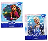 Frozen Princesses Anna and Elsa 48 Piece Puzzles (Set of 2 Puzzles)