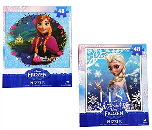 Frozen-Princesses-Anna-and-Elsa-48-Piece-Puzzles-Set-of-2-Puzzles