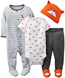 Carters Baby Boys 4 Piece Layette Set (Baby) - Orange - 3 Months