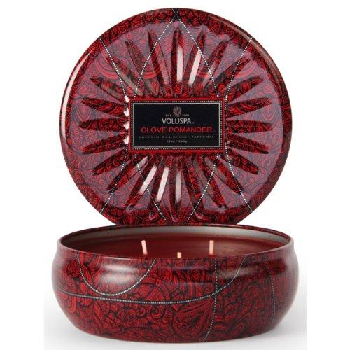 Voluspa Vermeil 3-wick Tin Candle - Clove Pomander