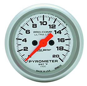 Auto Meter 4345 Ultra-Lite Electric Pyrometer