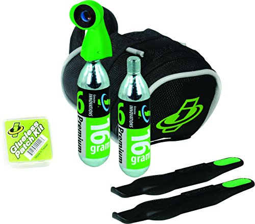 Genuine Innovations G2507 Tri-Road Tire Repair and Inflation Seat Bag (Bicycle Saddle Bag Repair Kit compare prices)