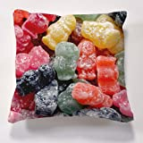 Scatter Cushions Iconic Jelly Baby Cushion  Beautiful printed Designer cushion 17 x 17 The perfect gift