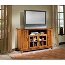 Home Style 5180-10 Arts and Crafts Entertainment Credenza, Cottage Oak Finish