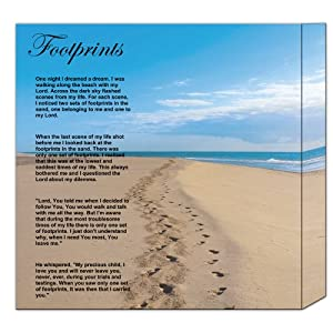 It is a graphic of Shocking Footprints in the Sand Poem Printable