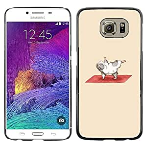 Omega Covers - Snap on Hard Back Case Cover Shell FOR Samsung Galaxy S6 - Exercise Guinea Pig Funny Cartoon