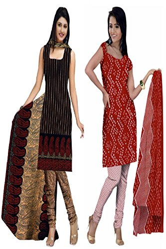 Araham soft crepe / American crepe dress material / unstitched Salwar Suit pack of 2 combo No 516