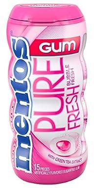 Mentos Gum Pocket Bottle, Pure Bubble Fresh, 1.06 Ounce (Pack of 10)