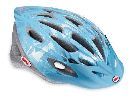 Bell Vela Bike Helmet, Ice Blue/Blue Flowers