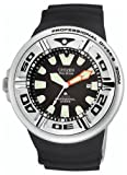Citizen Men's BJ8050-08E Eco-Drive Professional Diver Black Rubber Strap Watch