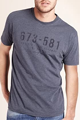 North Coast Crew Neck Number Print T-Shirt [T28-3398N-S]