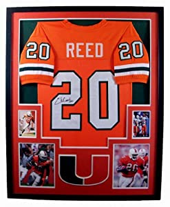 Ed Reed Framed Jersey Signed JSA Authentication Autographed Miami Hurricanes