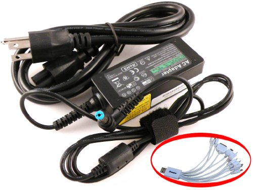 19V 40W Laptop Charger AC Adapter for Acer Aspire One 722-0667 722-0825 722-0828 722-0877 722-0879 722-BZ197 722-BZ454 722-BZ480 722-BZ490 722-BZ608 722-BZ699 722-BZ816 722-BZ825 722-BZ848 722-C52bb 722-C52kk 722-C52rr 722-C62bb 722-C62kk 722-C62rr 725 +