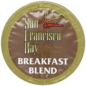 San Francisco Bay Coffee OneCup for Keurig K-Cup Brewers, Breakfast Blend, Pack of 160