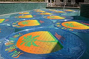 Amazon Com Sun Ring Palm Tree Round Solar Cover