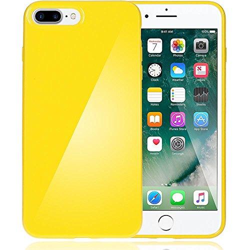 delightable24 Protezione Cover Case in Silicone TPU Jelly per Smartphone APPLE IPHONE 7 PLUS - Giallo