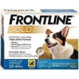 Frontline Gold for Dogs 23 - 44lbs 3 monthly doses