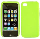Neon Green Silicone Jelly Skin Case Cover for Apple iphone 4GS 4G S 4GS