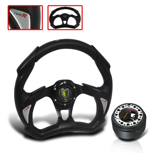 Acura Integra 320mm Racing Style Steering Wheel with Hub Adapter and Horn Button Type R (Acura Integra Wheels compare prices)
