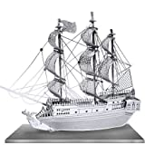Metal Works The BLACK PEARL Pirate Ship 3D Laser Cut Model puzzle replica